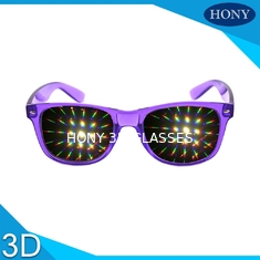 PVC Materials thicker lens 3D Diffraction Glasses For Party / 3d firework glasses