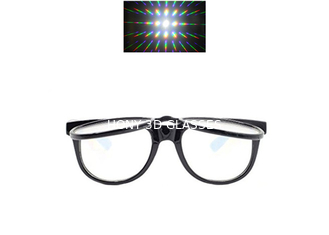 Plastic Double Fireworks 3D Diffraction Glasses For Christmas Laser Show & Funny Party