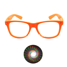 Print your Logo Plastic Diffraction Glasses Spiral Rave Fireworks Glasses