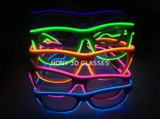 Shinging El Wire Glasses With Diffraction Effect Lens For Watching Fireworks