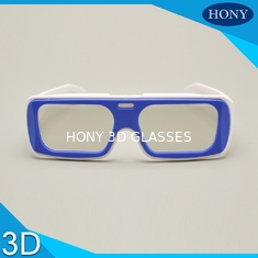 IMAX Reusable Linear Polarized 3D Glasses White / Blue Frame For Adult