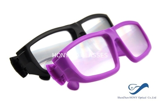 Plastic Frame Circular Polarized 3D Glasses Anti Scratch For Cinema